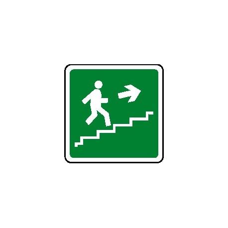 Cartello scala di emergenza verso alto destra