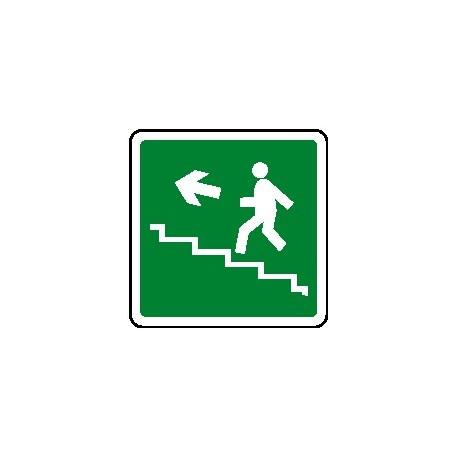 Cartello scala di emergenza verso alto sinistra