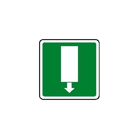 Cartello uscita di emergenza verso basso