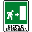Cartello uscita di emergenza verso destra 250x310