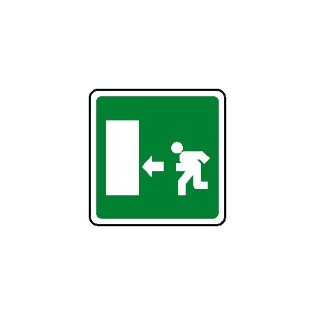 Cartello uscita di emergenza verso sinistra 250X250