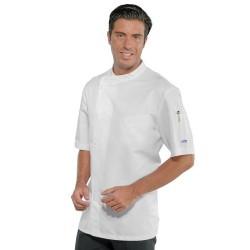 Giacca cuoco uomo Yokohama bianca in tessuto super dry manica corta - Isacco