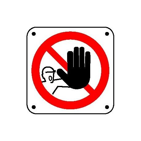 Cartello vietato l'accesso ai non addetti - bordo macchine