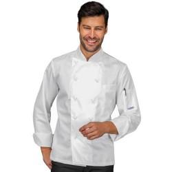 Giacca cuoco uomo Alabama slim manica lunga 100% cotone - Isacco
