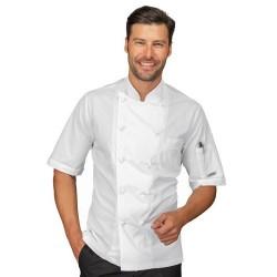 Giacca cuoco uomo Alabama slim manica corta 100% cotone - Isacco