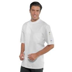 Giacca cuoco uomo Bilbao manica corta chiusura laterale - Isacco