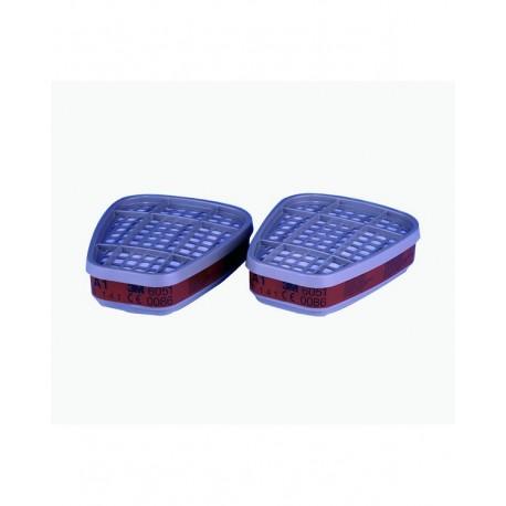 Filtri 3M 6051 serie 6000 A1 Confezione da 2 pezzi