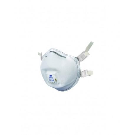 Respiratore 3M 9925 con valvola per polveri e fumi FFP2 - Confezione da 10 pezzi
