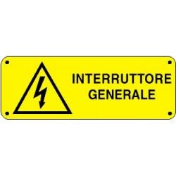 Cartello interruttore generale