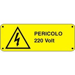 Cartello pericolo 220 volt