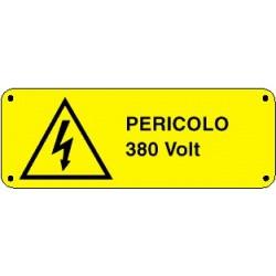 Cartello pericolo 380 volt